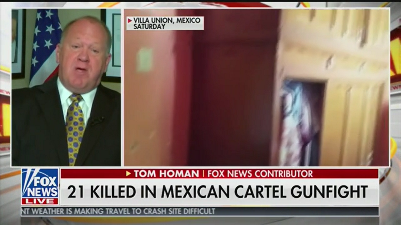 Fox's Tom Homan: The U.S. Should Fight Drug Cartels in Mexico Like 'In Panama with Noriega'