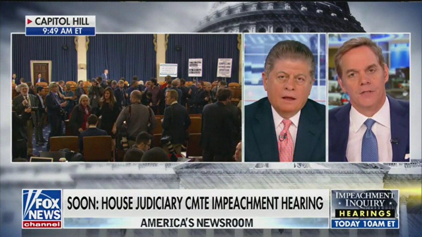 Fox News' Judge Andrew Napolitano Says He Would Vote for Impeachment If He Were in Congress
