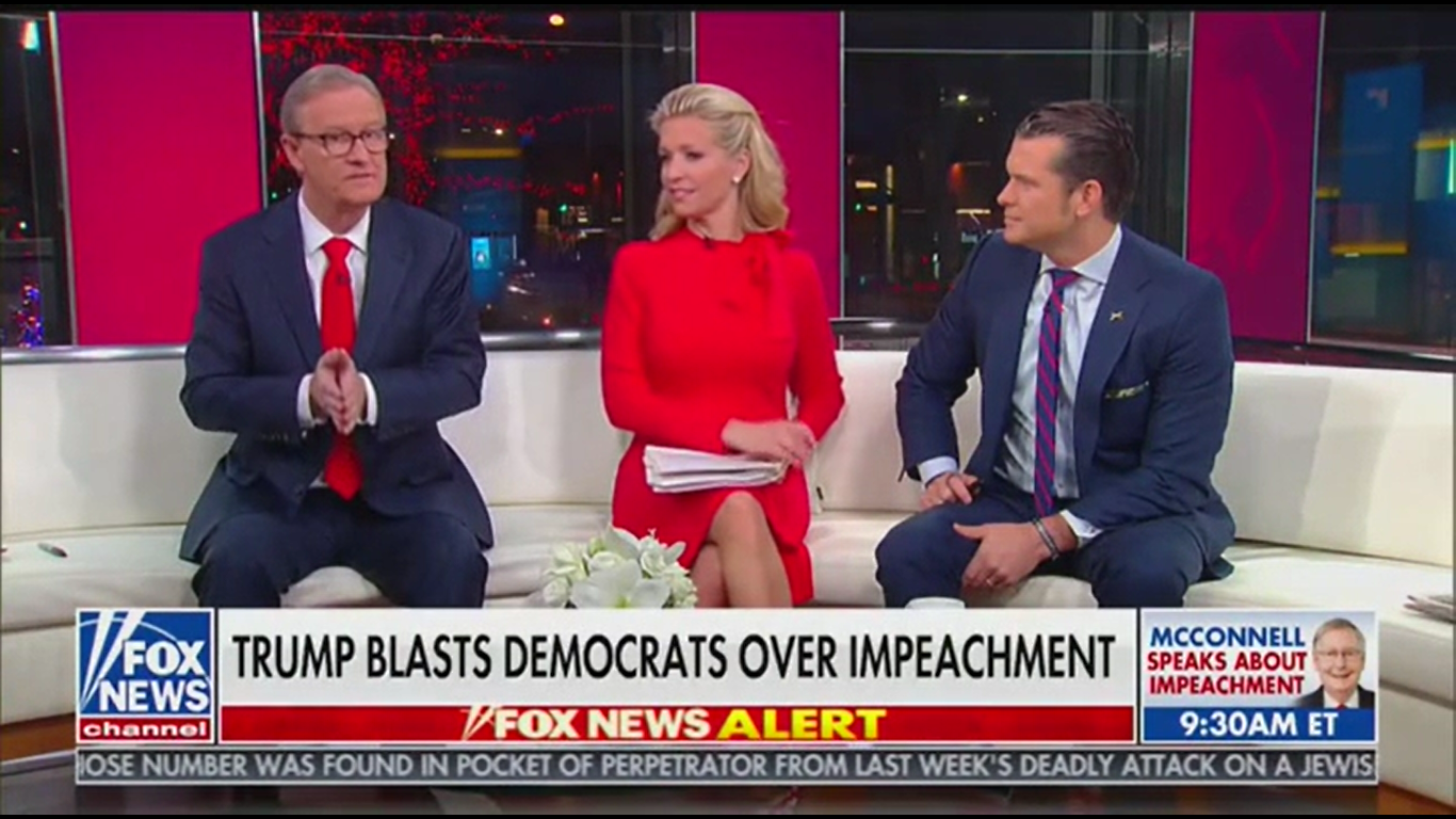Fox's Pete Hegseth Says Trump Was 'Celebrating Christmas' at Rally Where He Said Deceased Congressman Is in Hell