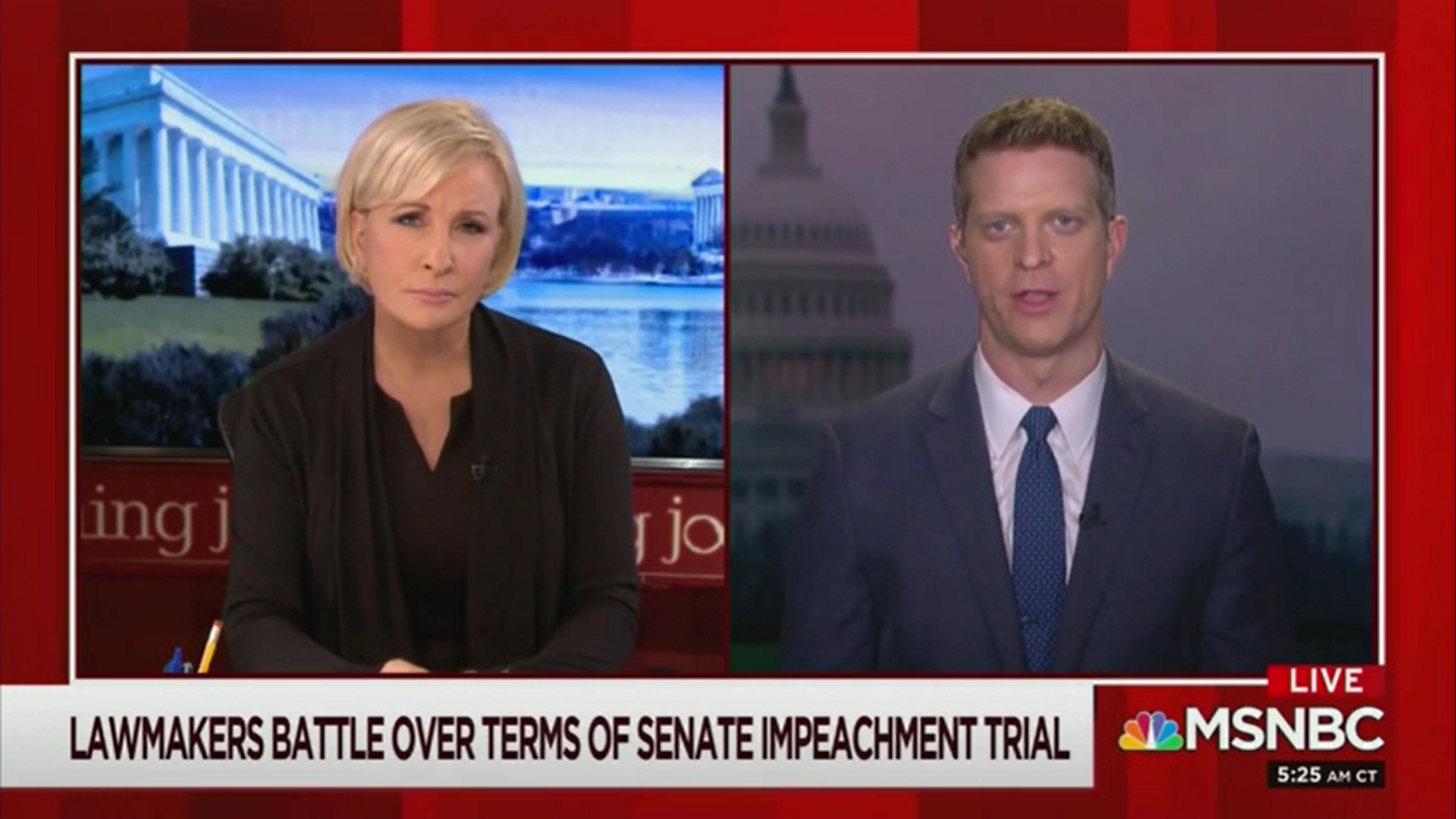MSNBC Correspondent: 'An Intemperate Presidential Tweet' Could Reveal More Information About Impeachment