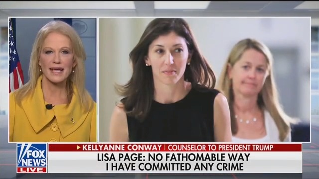 Kellyanne Conway on Fox News: 'Very Rattled' Lisa Page 'Feels Really Sorry for Herself'