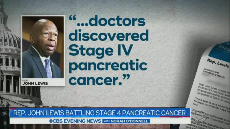 CBS Evening News Shows Picture of Elijah Cummings During Story on John Lewis' Cancer Diagnosis