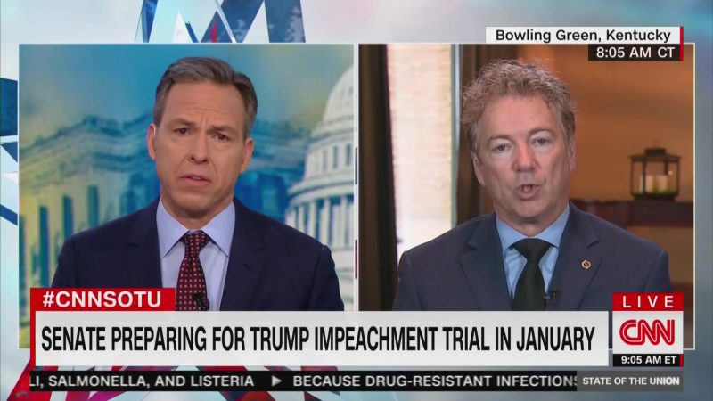 Tapper Confronts Rand Paul: You Really Think Trump Cares About Corruption in Ukraine?