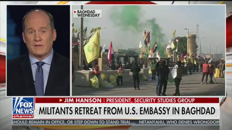'Fox & Friends' Guest: Iran 'Invaded the United States, Our Sovereign Soil' by Attacking Baghdad Embassy