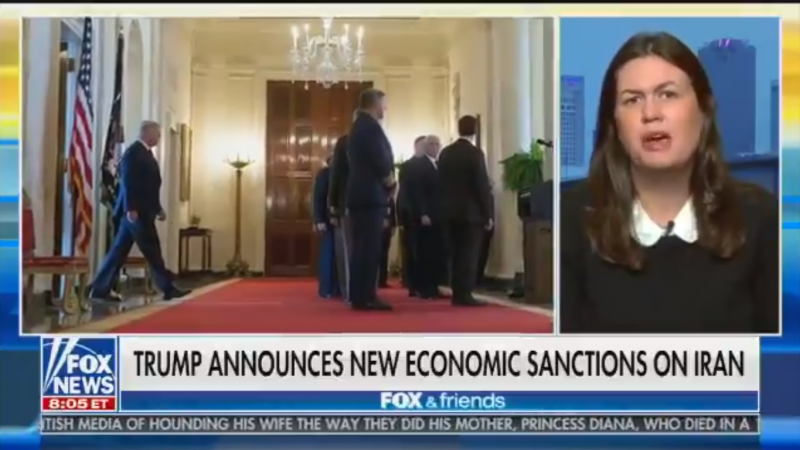Sarah Sanders: 'I Can't Think of Anything Dumber Than Allowing Congress to Take over our Foreign Policy'