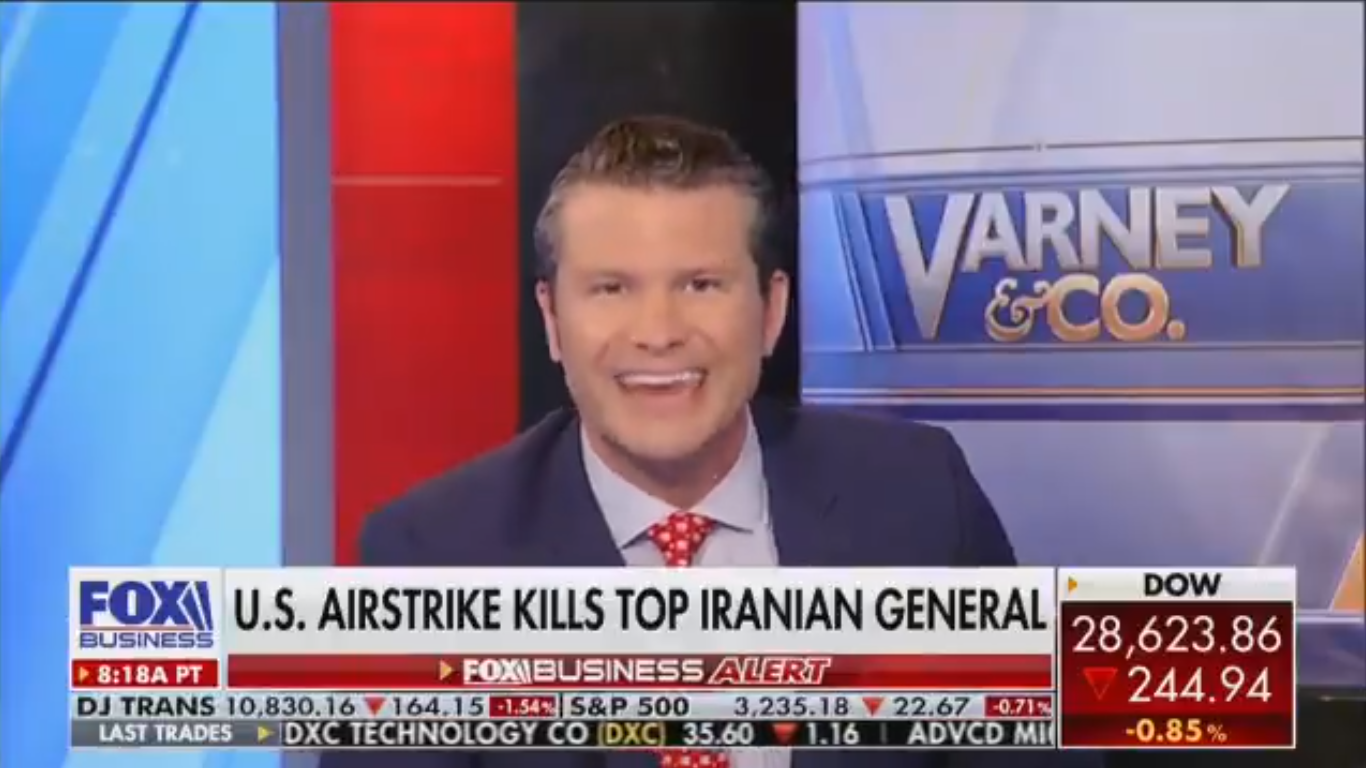 Fox's Pete Hegseth Threatens Iran: 'Maybe Your Second General Is Next'