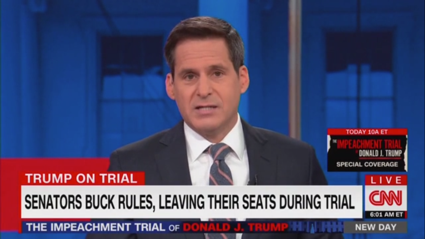CNN's John Berman Blasts Senators for Missing Impeachment Trial: 'The Herculean Task of Sitting Down'