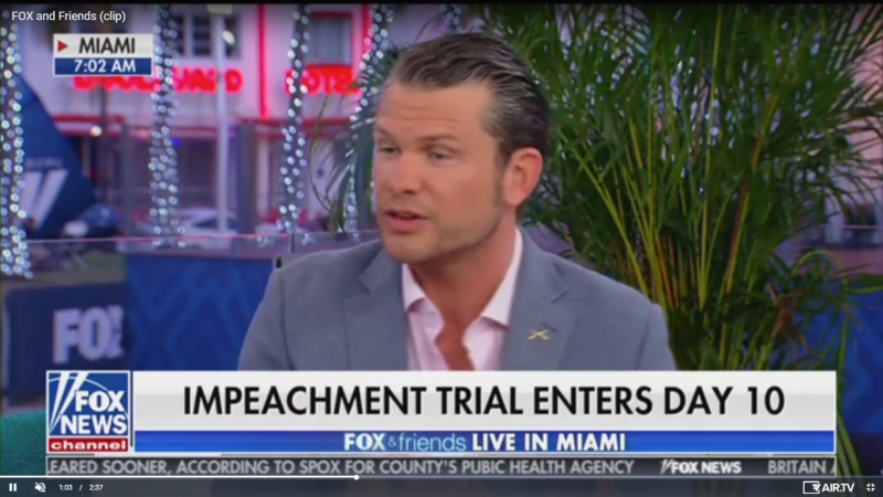 Fox's Pete Hegseth: Mitt Romney 'Might As Well Be a Democrat' Because 'He Hates the President So Much'