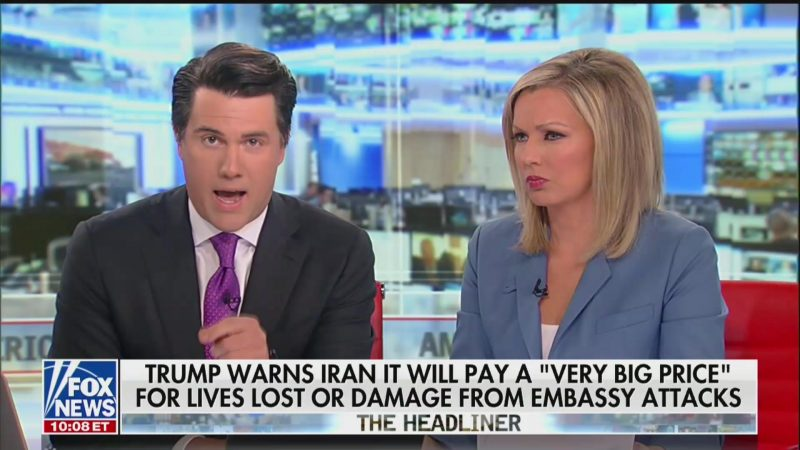 'Bullies Understand a Punch in the Nose': Fox Anchor Seemingly Advocates for Military Action