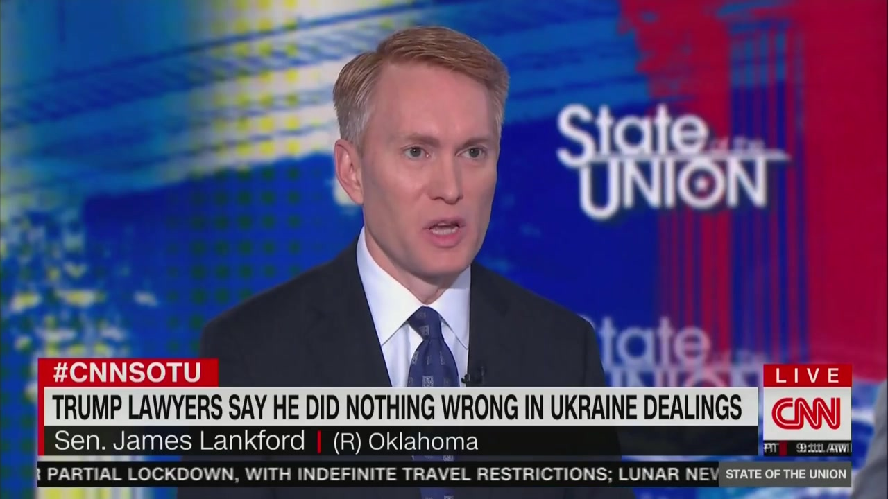 Lankford Downplays Trump Discussing Ukraine, Yovanovitch with Giuliani Associates