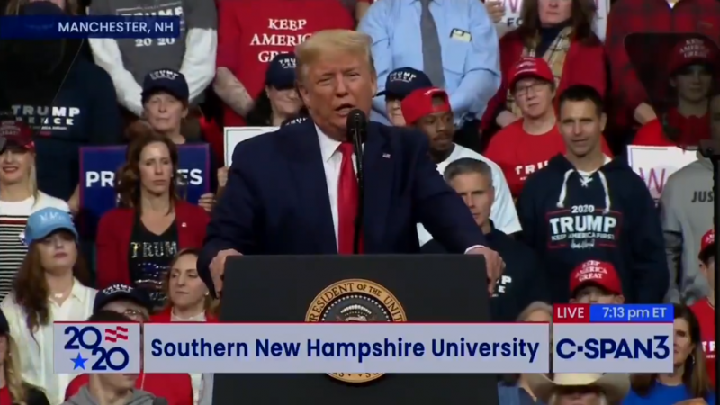 Trump Claims That 2016 Election in New Hampshire Was Rigged Against Him