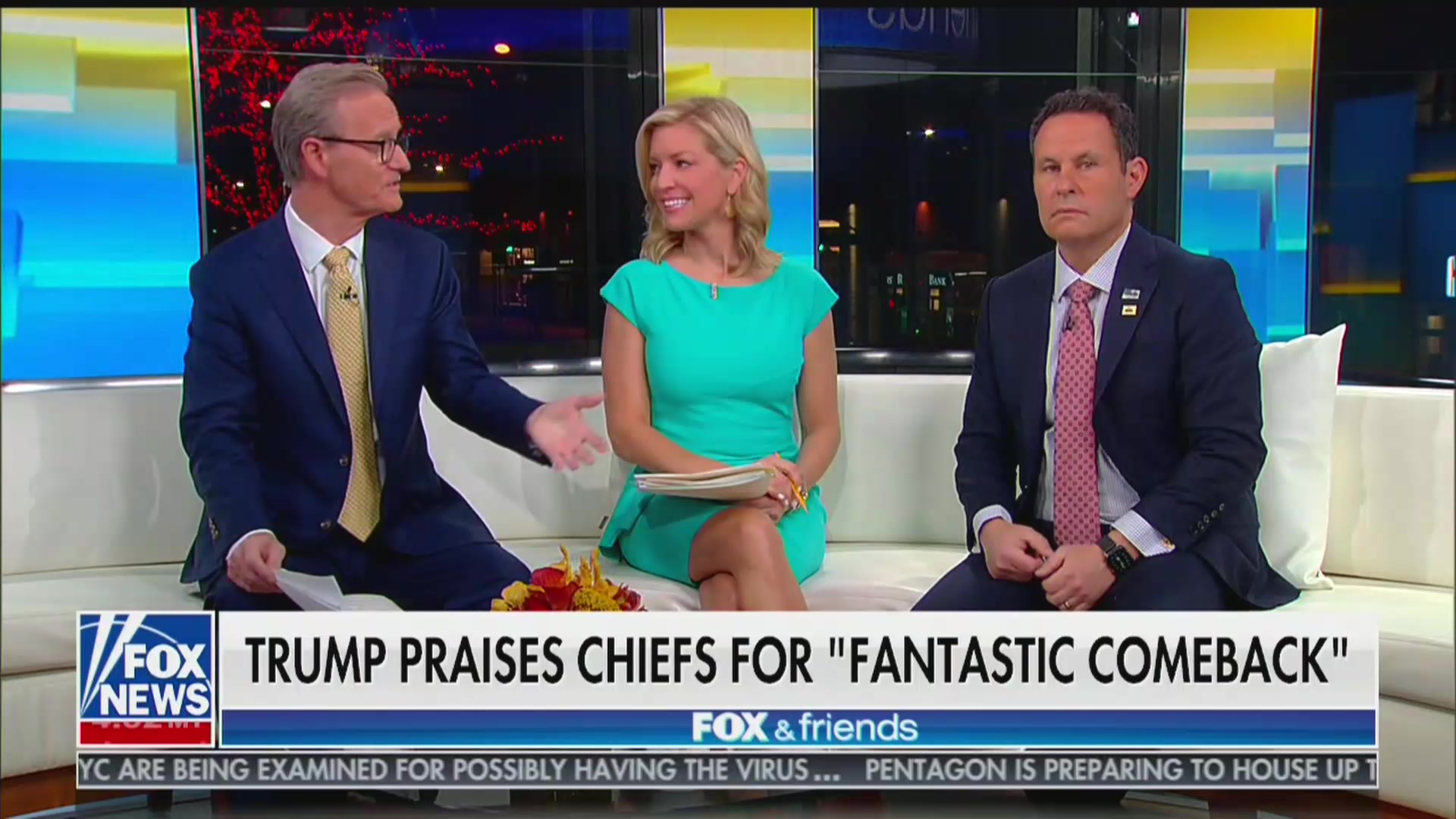 'Fox & Friends' Defends Trump's Super Bowl Tweet: 'Kansas City Is in Kansas'