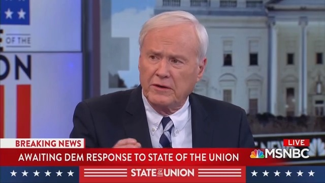 MSNBC's Chris Matthews Calls Trump's SOTU 'Good Stuff': Regular People Will 'Like It!'