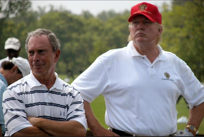 Trump Accuses Bloomberg of 'Tiny Club Head Speed' While Retweeting Photo of Two of Them