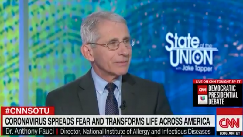 Fauci Urges 'Dramatic' Reduction of Attendance at Restaurants, Bars