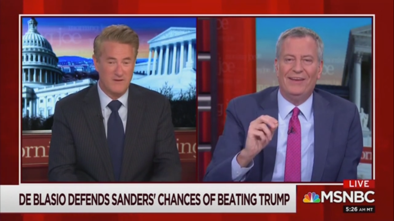 Scarborough Invokes the 'Spirit of Chris Matthews' and Jokes 'Is Bernie Glad We Won the Cold War?'