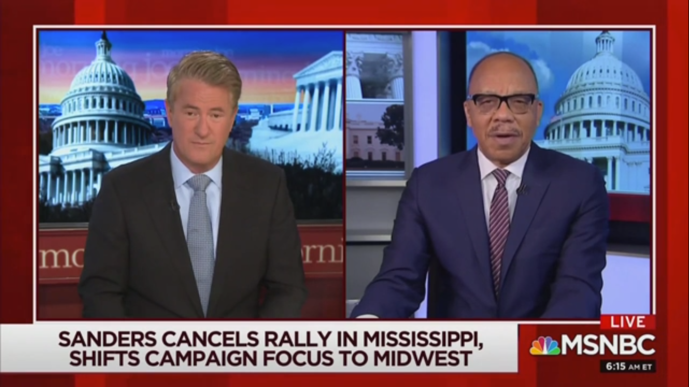 'Morning Joe' on Sanders' Lack of Black Support: 'There's No Way You're Gonna Be the Democratic Nominee'