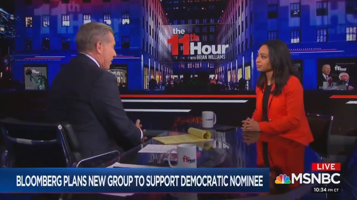 MSNBC's Brian Williams and Guest Flub Math: Bloomberg Spent Enough to Give Every American A Million Dollars
