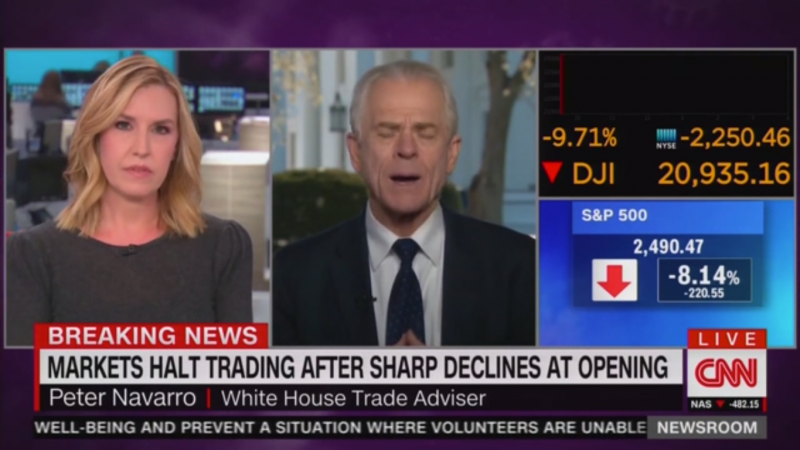 CNN's Poppy Harlow Grills Navarro on Stock Market Losses: 'This is Freaking People Out, Peter'