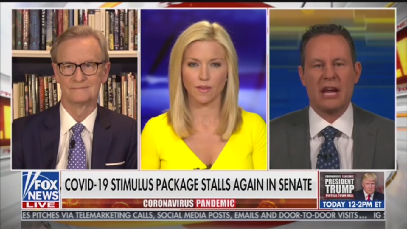 Fox News' Brian Kilmeade: Democrats 'Taking Advantage of Republicans Who Might Have the Covid-19 Virus'