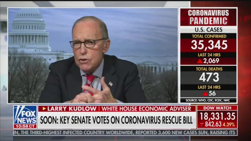 Larry Kudlow: 'Difficult Tradeoffs' May Be Needed on Coronavirus and Economy