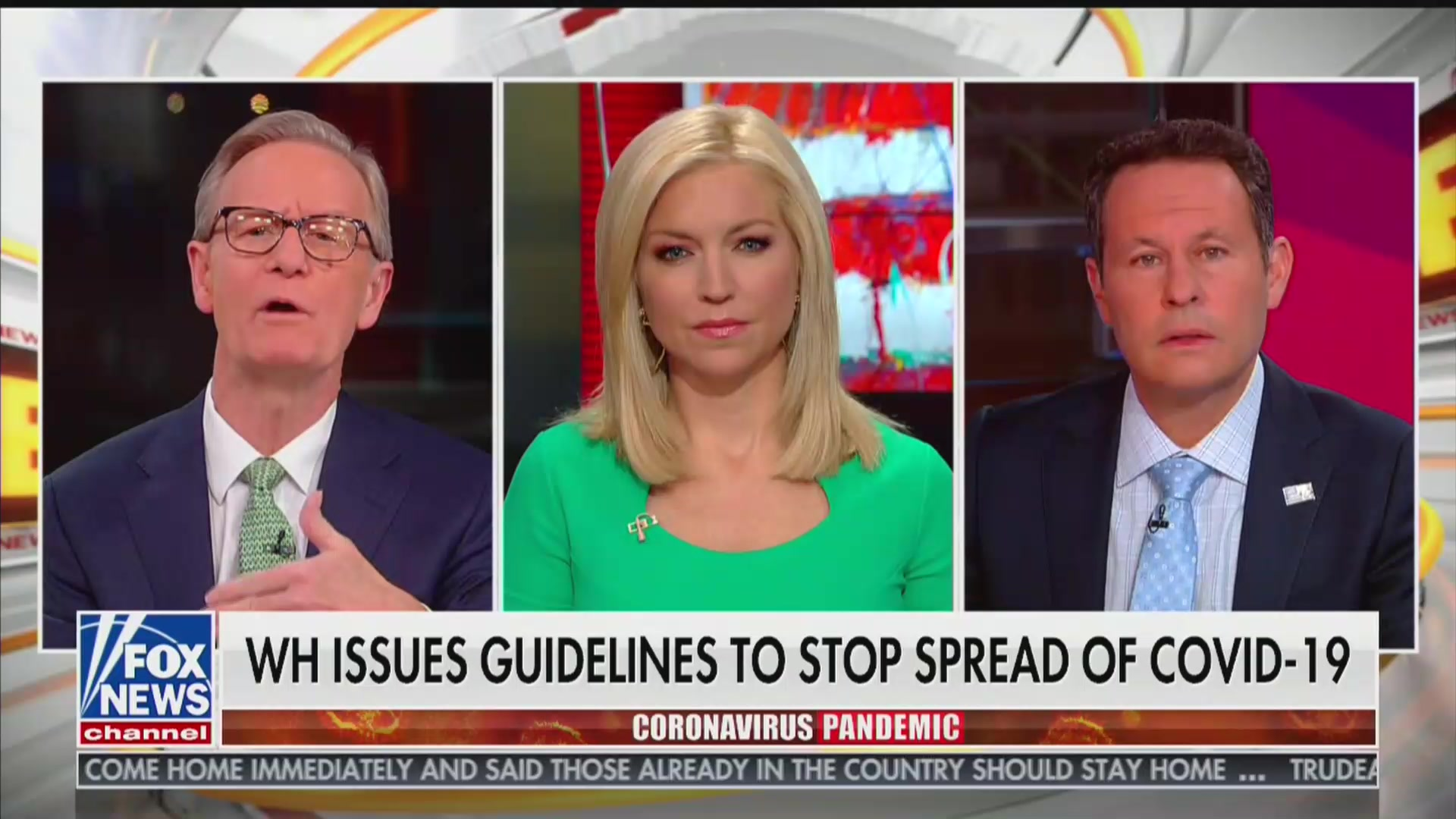 Fox News Host Who Encouraged Viewers to Fly Now Taking Coronavirus Very Seriously