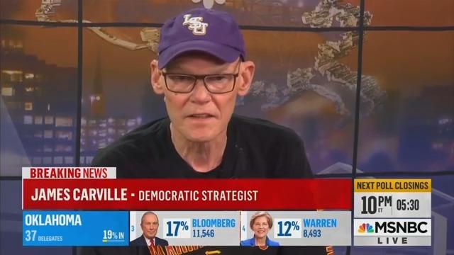 James Carville Suggests Bernie Sanders Should Drop Out Following Biden's Super Tuesday Success