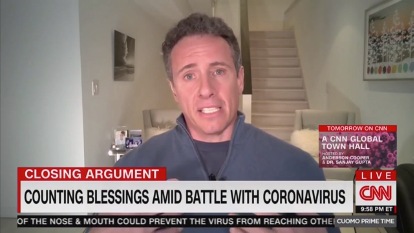 Chris Cuomo's Coronavirus Fever Was So Bad He Hallucinated About His Late Father