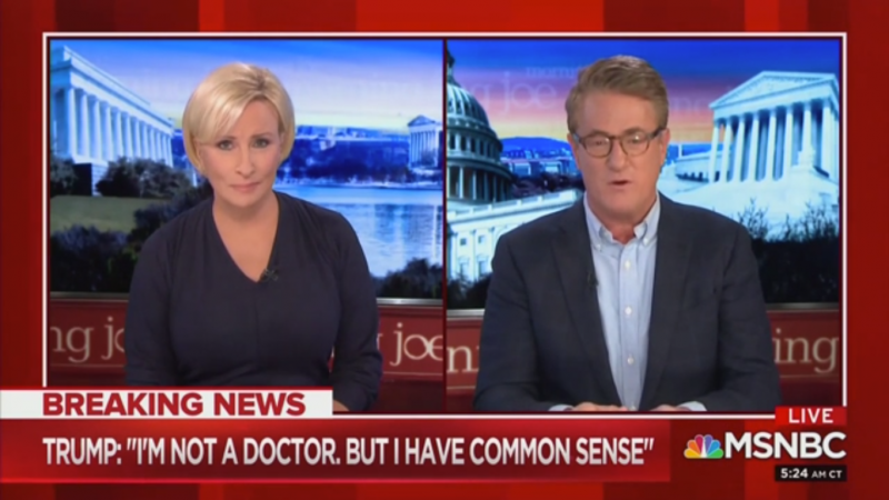 Joe Scarborough Blasts 'Hacks' Defending Trump on Coronavirus: 'The Shallowness of Their Souls'