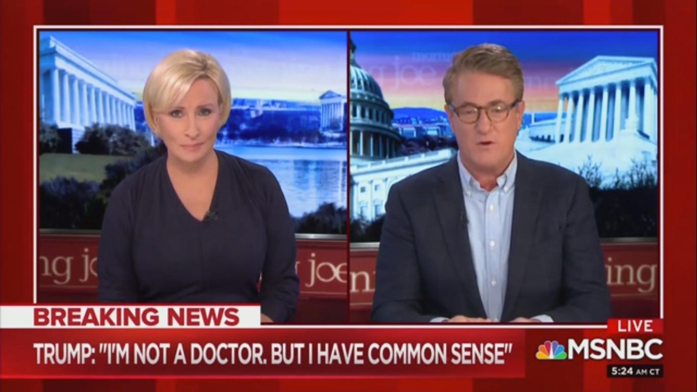 Joe Scarborough Blasts 'Hacks' Defending Trump on Coronavirus: 'The Shallowness of Their Souls'