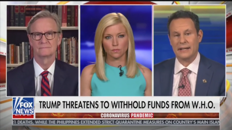 Fox's Brian Kilmeade: Is the WHO 'Serving the Communist Country?'