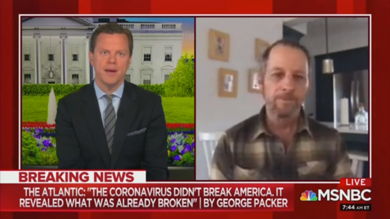George Packer Tells 'Morning Joe': 'Trump Seems to Be Collaborating with the Virus'