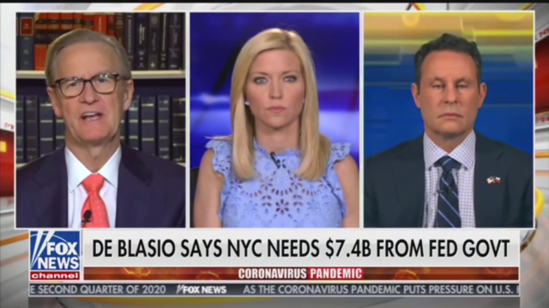 Fox's Brian Kilmeade Warns Bill de Blasio: Don't Use Coronavirus as an Excuse to Bail Out Pensions