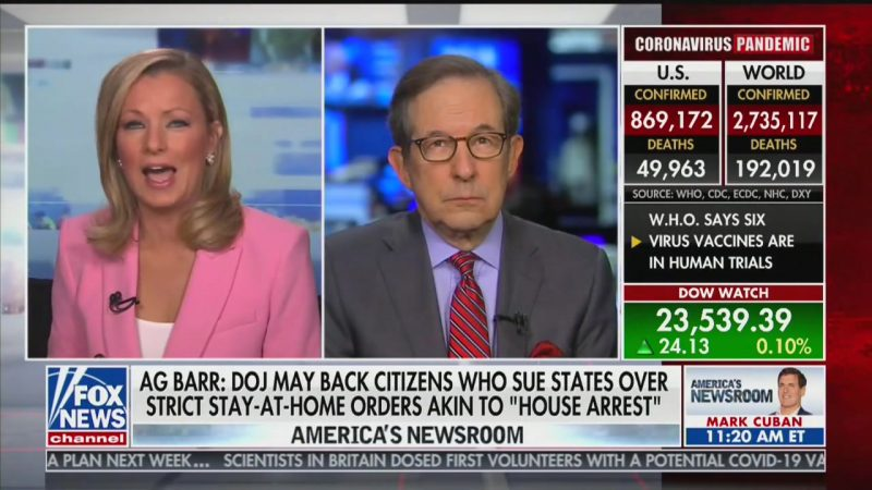 Fox News' Chris Wallace Tears Apart Barr's Threats Against Shutdown Orders: Just 'Talk on a Talk Radio Show'