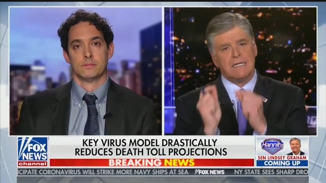 Hannity Guest: 'Kids' and 'Almost Anybody Under 30 Is at No Risk' From Coronavirus