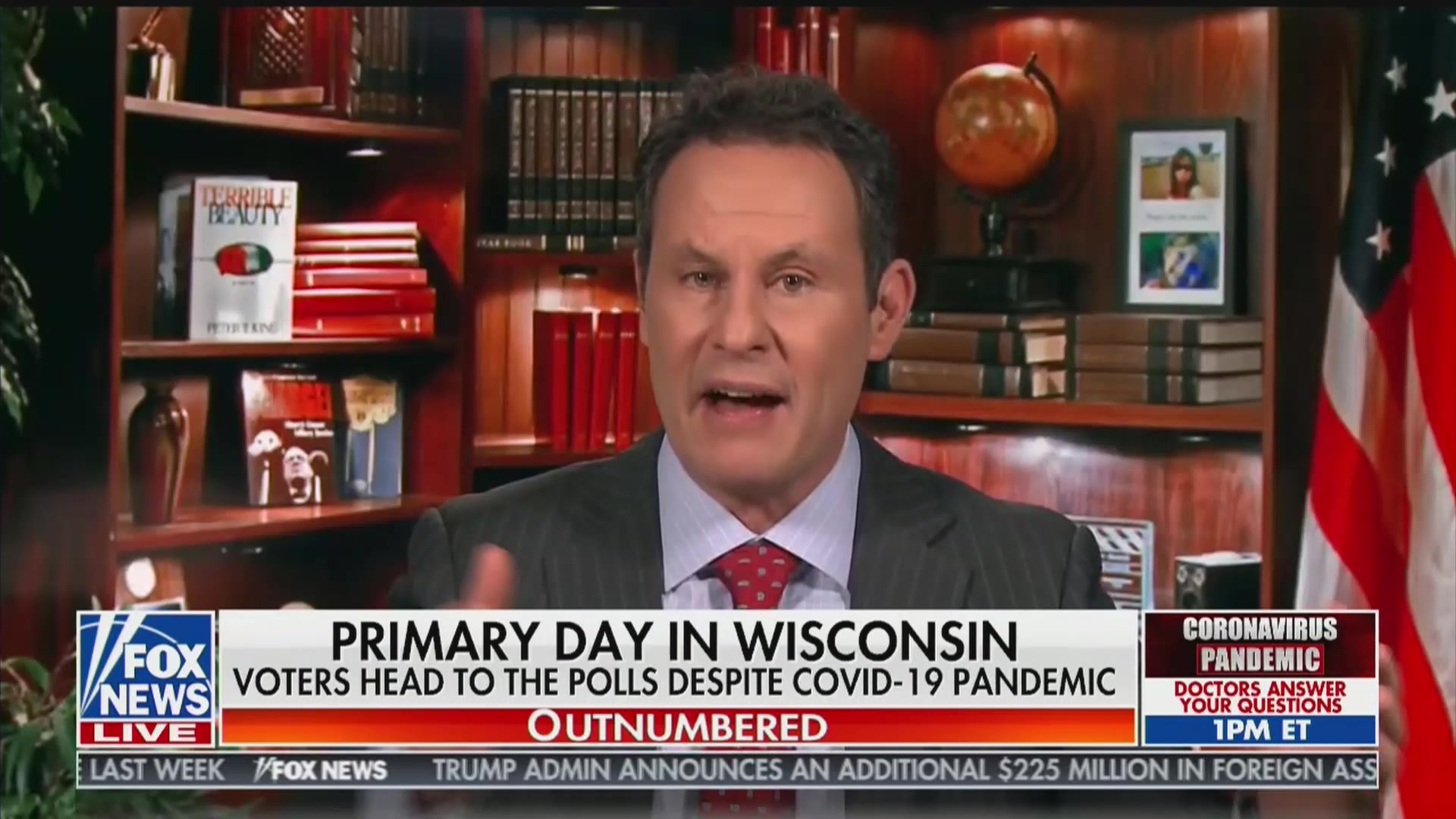 Fox News' Brian Kilmeade Salutes Wisconsin for Going Forward With In-Person Voting During Pandemic