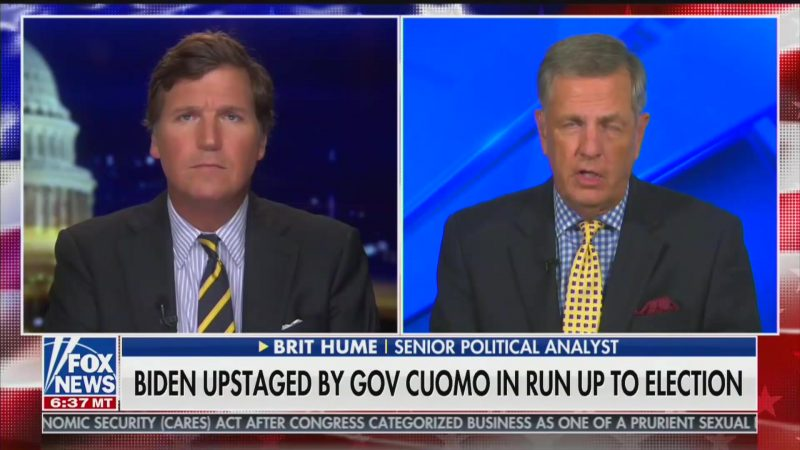 Fox's Brit Hume Compares Biden's Memory Problems to His Own: 'He's Senile'
