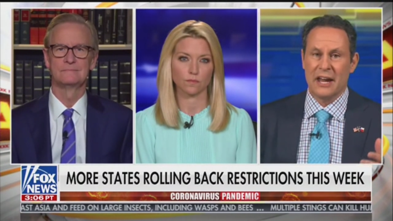 Fox's Brian Kilmeade Chides Elderly Lawmakers Concerned about Coronavirus: 'Get Back to Work'