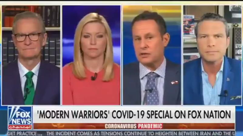 Fox's Brian Kilmeade: Americans Need 'The Military Mindset' to Defeat 'Enemy' of Coronavirus