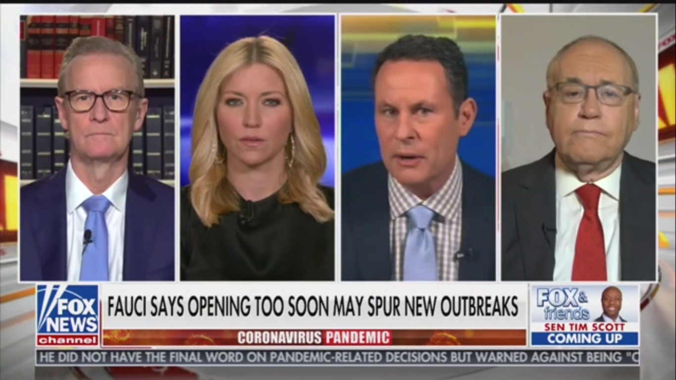 Fox's Brian Kilmeade: Dr. Fauci Isn't Thinking About 'What Damage He's Doing' to the Economy