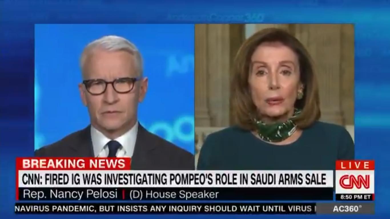 Nancy Pelosi Calls Trump 'Morbidly Obese' as He Reveals He's Taking Hydroxychloroquine
