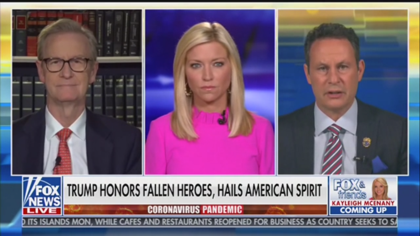 Fox's Brian Kilmeade Suggests Trump Doesn't Wear a Mask Because He Has Air Force One and the Secret Service
