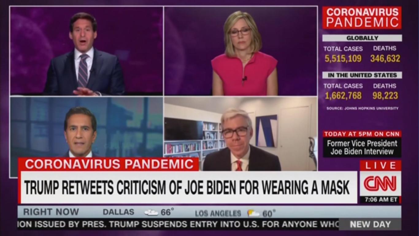 Watch: CNN Hosts Ridicule Brit Hume and Trump over Biden Mask Tweet