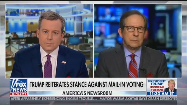 Chris Wallace Debunks Trump's False Claims on Mail-In Voting: 'No Record of Massive Fraud'