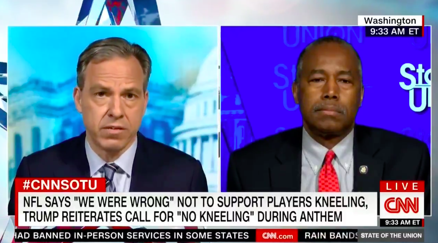 Ben Carson Says Problems Would Be Solved If Kaepernick, Other NFL Players Just Said They Love America