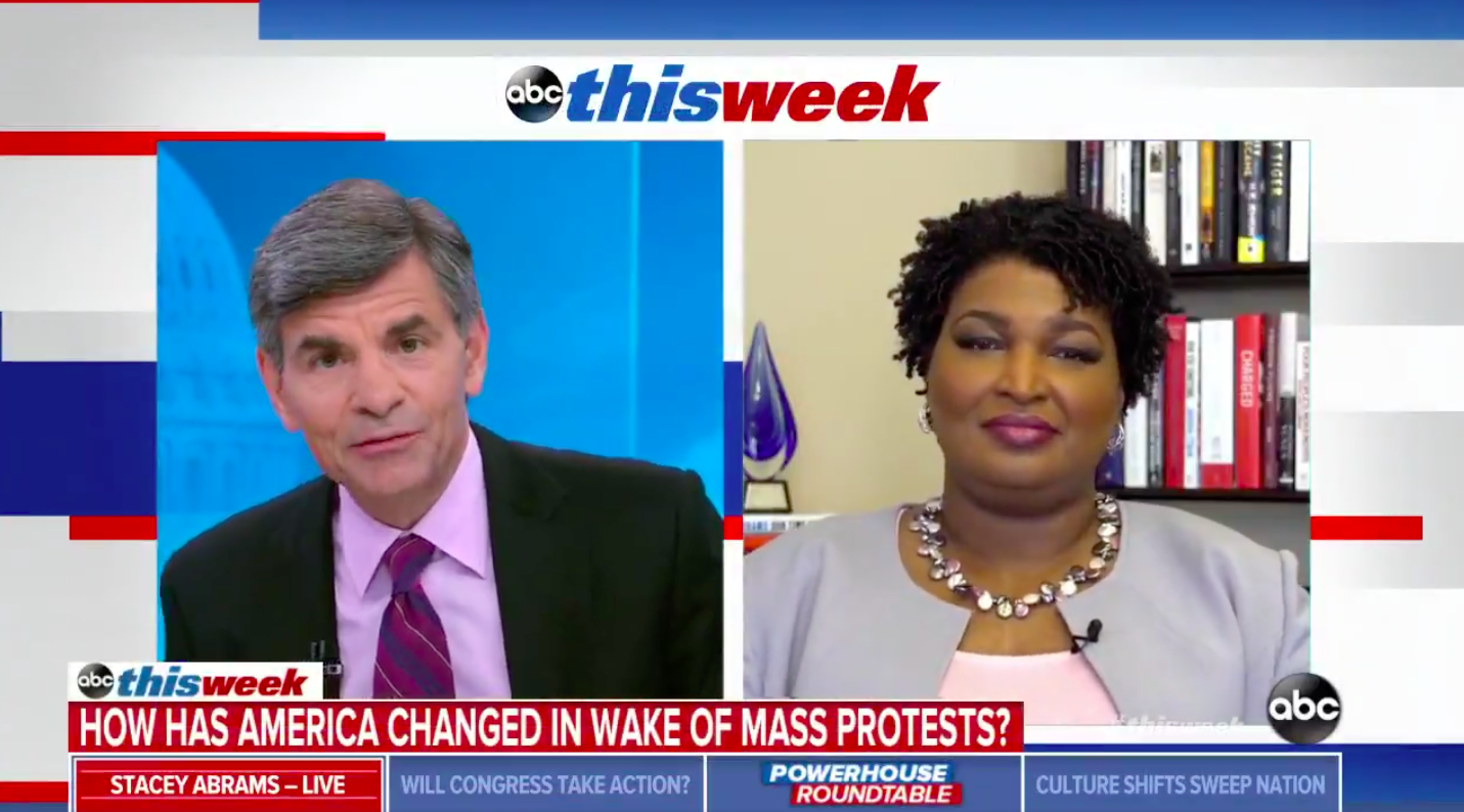 Stacey Abrams Calls Out Ben Carson's 'Infantile Response' About 'Ax Handle Saturday'