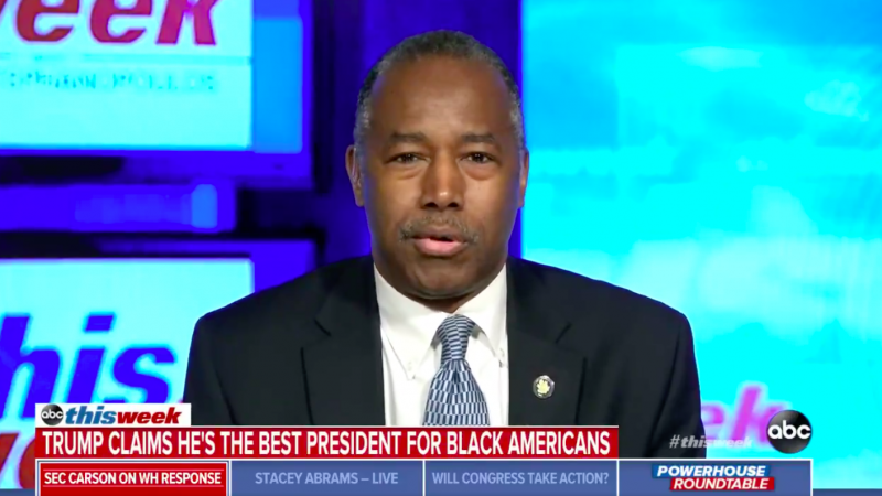 Ben Carson Balks When Asked About Trump Claiming He Has Done the Most for Black Americans Since Lincoln