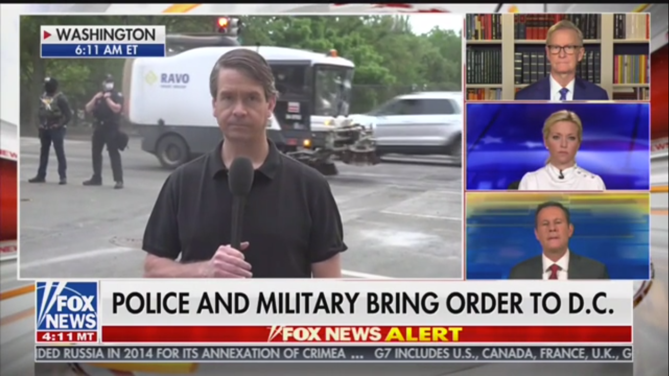 Fox's Griff Jenkins: D.C. Protesters Should Have Gotten Out of Trump's Way