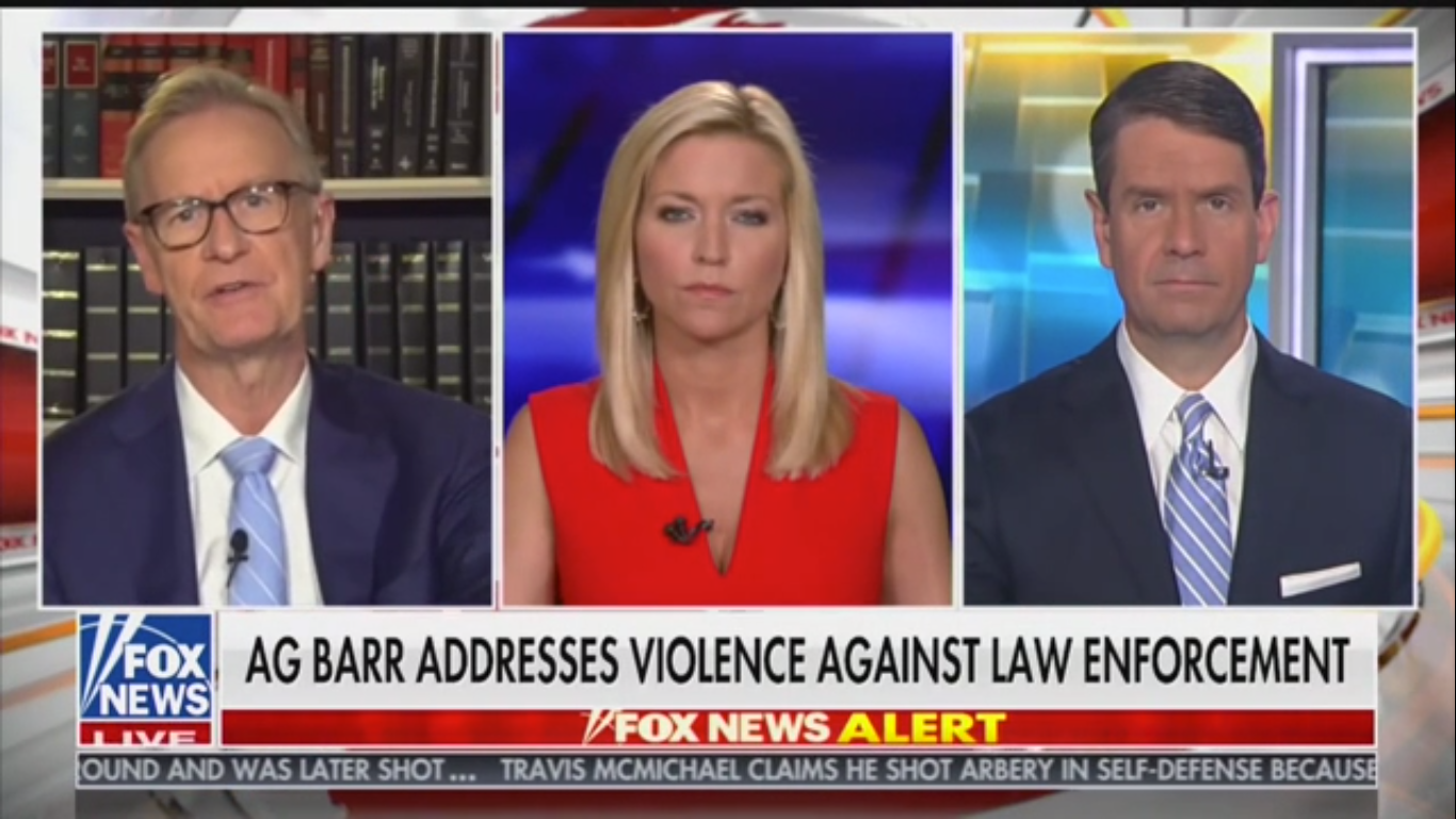 Fox's Griff Jenkins: Police Are There to 'Provide the Space' for First Amendment Rights While Keeping Protesters 'Safe'