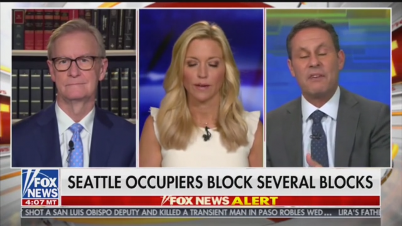 Fox's Brian Kilmeade Rages at Seattle: 'Giving Up a Major Northwest City to a Bunch of Anarchists'